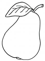 Груша с листком