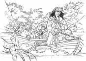 Раскраска Пираты Карибского моря