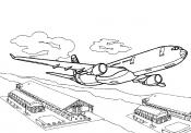 Взлетающий самолет