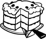 Разрезанный торт