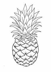 Рскраска ананас