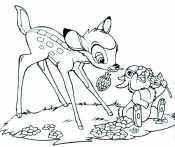 Бэмби и заяц едят
