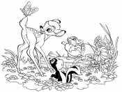 Бэмби, заяц и скунс