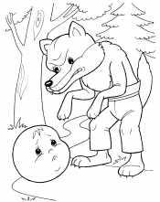 Колобой и злой волк