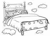 Рисунок Кровать