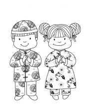 Рисунок мальчик и девочка