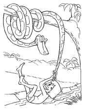 Маугли играет с Каа