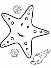 Раскраски Морская звезда