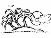 Пальмы и туча
