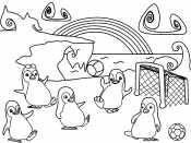 Пингвины играют в мяч