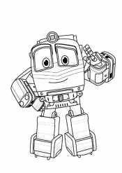 Раскраска Роботы поезда