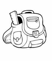 Раскраска Рюкзак на плечи