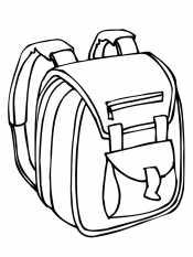 Раскраска Рюкзак для мальчика