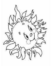 Картинка раскраска солнышко