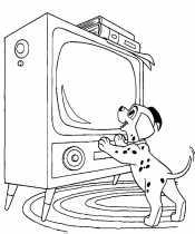 Далматинец у телевизора