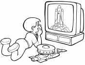 Мальчик у телевизора
