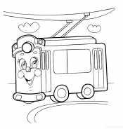 Троллейбус с глазами
