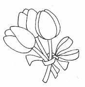 Тюльпаны с бантом