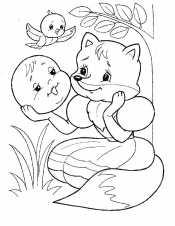 Колобок с лисичкой