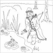 Царевич и лягушка на озере