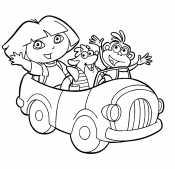 Даша на машине
