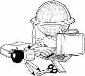 Глобус и портфель