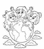 Дети с глобусом