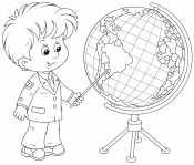 Мальчик с глобусом