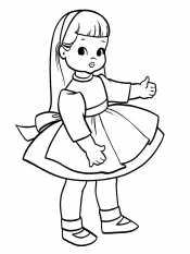Кукла в ободке