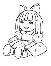 Кукла сидит