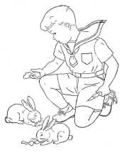 Мальчик и зайцы