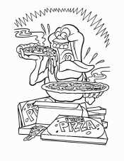 Пицца из мультика