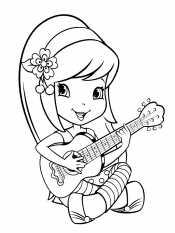 Шарлотта играет на гитаре