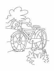 Раскраски Велосипед