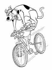 Скуби Ду на велосипеде