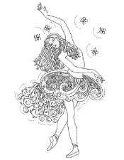 Рисунок Антистресс для девочек