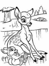 Бэмби и Заяц Топотун на льду