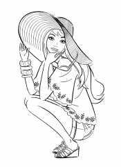 Модница в шляпе