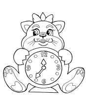 Часы-кошечка