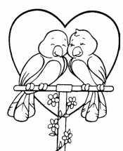 Голубки у сердца