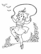 Девочка и скакалка
