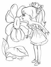 Девочка и цветок