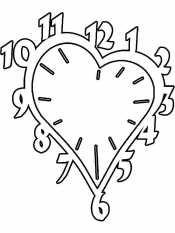 Часы сердечко