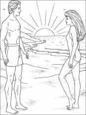 Кен и Барби на закате