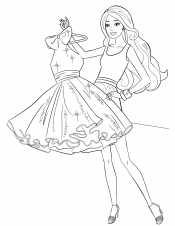 Девочка с платьем