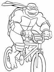 черепашка на велосипеде