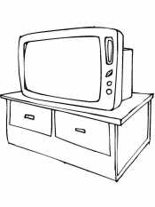 Телевизор на тумбочке