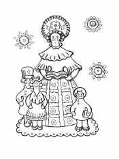 Барыня с детьми