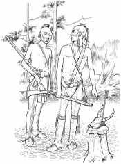 Индейцы в лесу