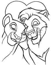 Симба и Нала обнимаются
